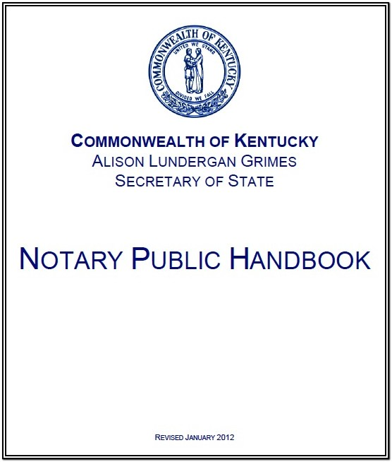 Notary Renewal Form Kentucky