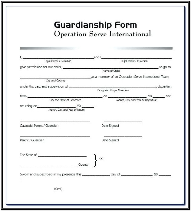 Permanent Guardianship Form Oklahoma