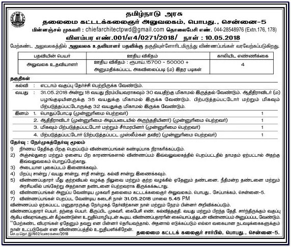 Post Office Application Form 2018