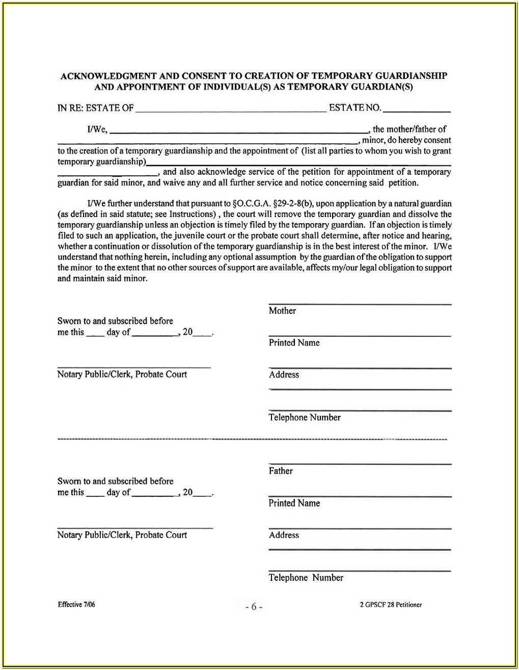 Probate Inventory Form Florida