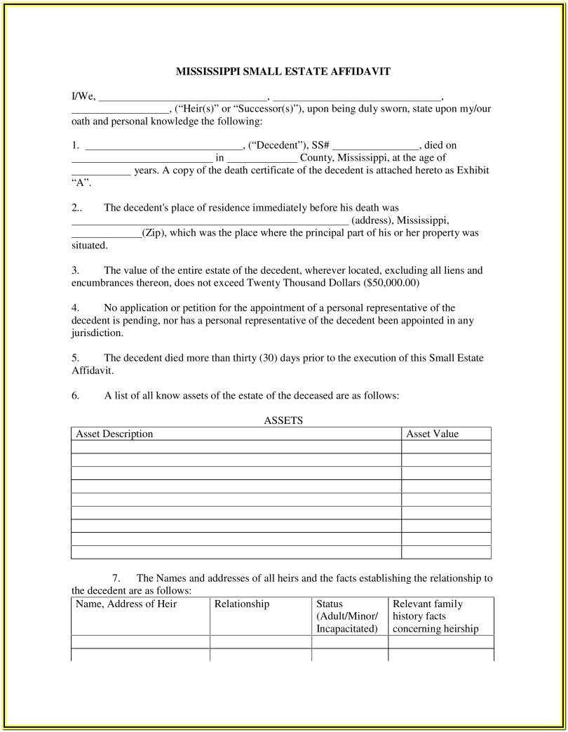 Probate Inventory Form Kentucky