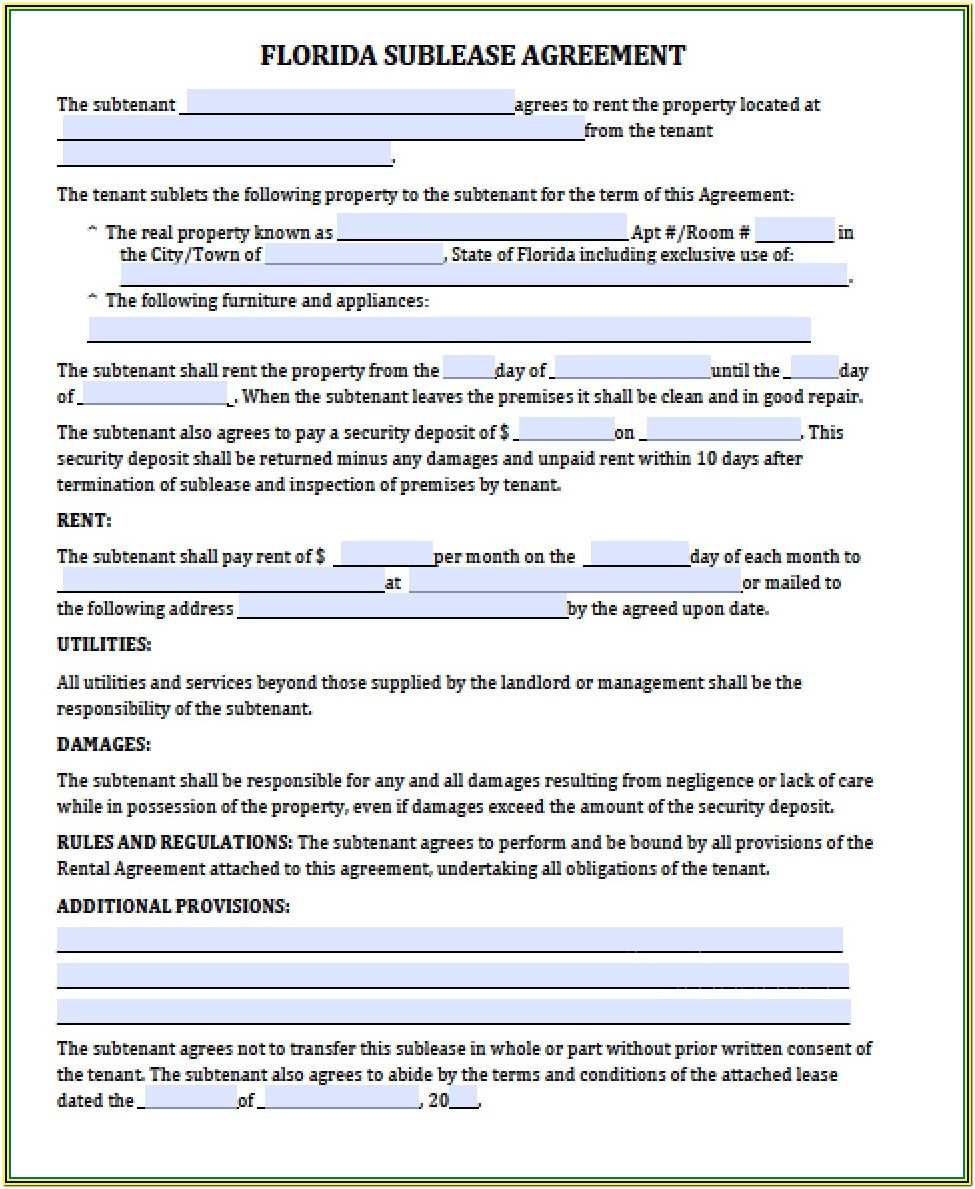 Residential Lease Renewal Form Ny