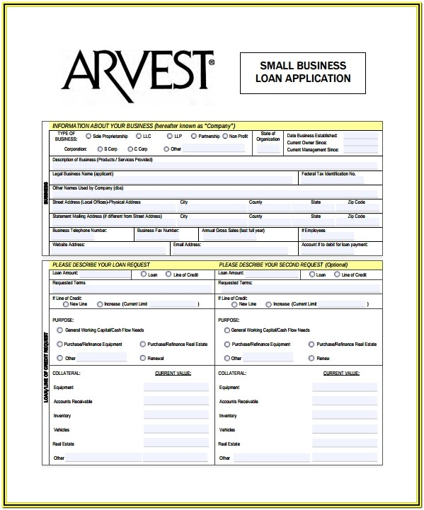 Sba Business Loan Application Form