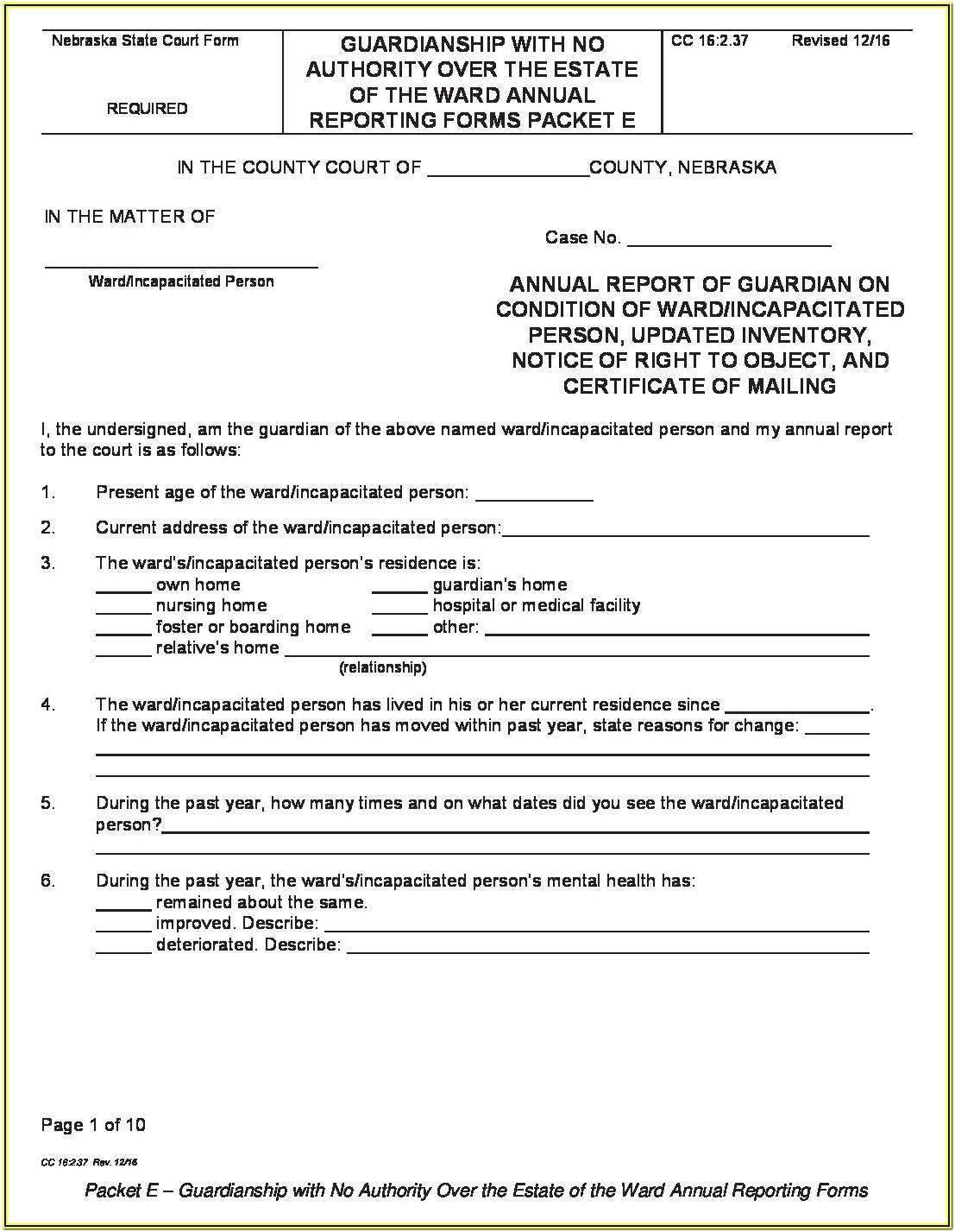 Standby Guardianship Form Georgia