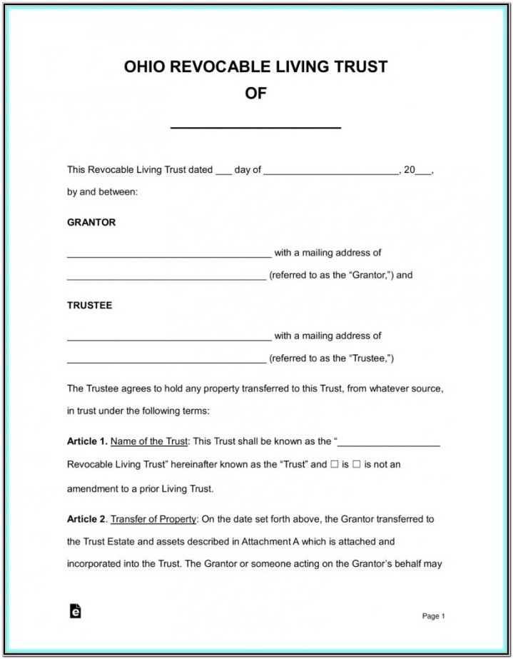 Standby Guardianship Form Ohio