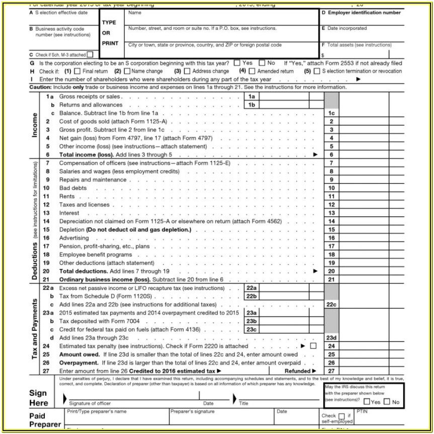 Tax Ez Form 2018