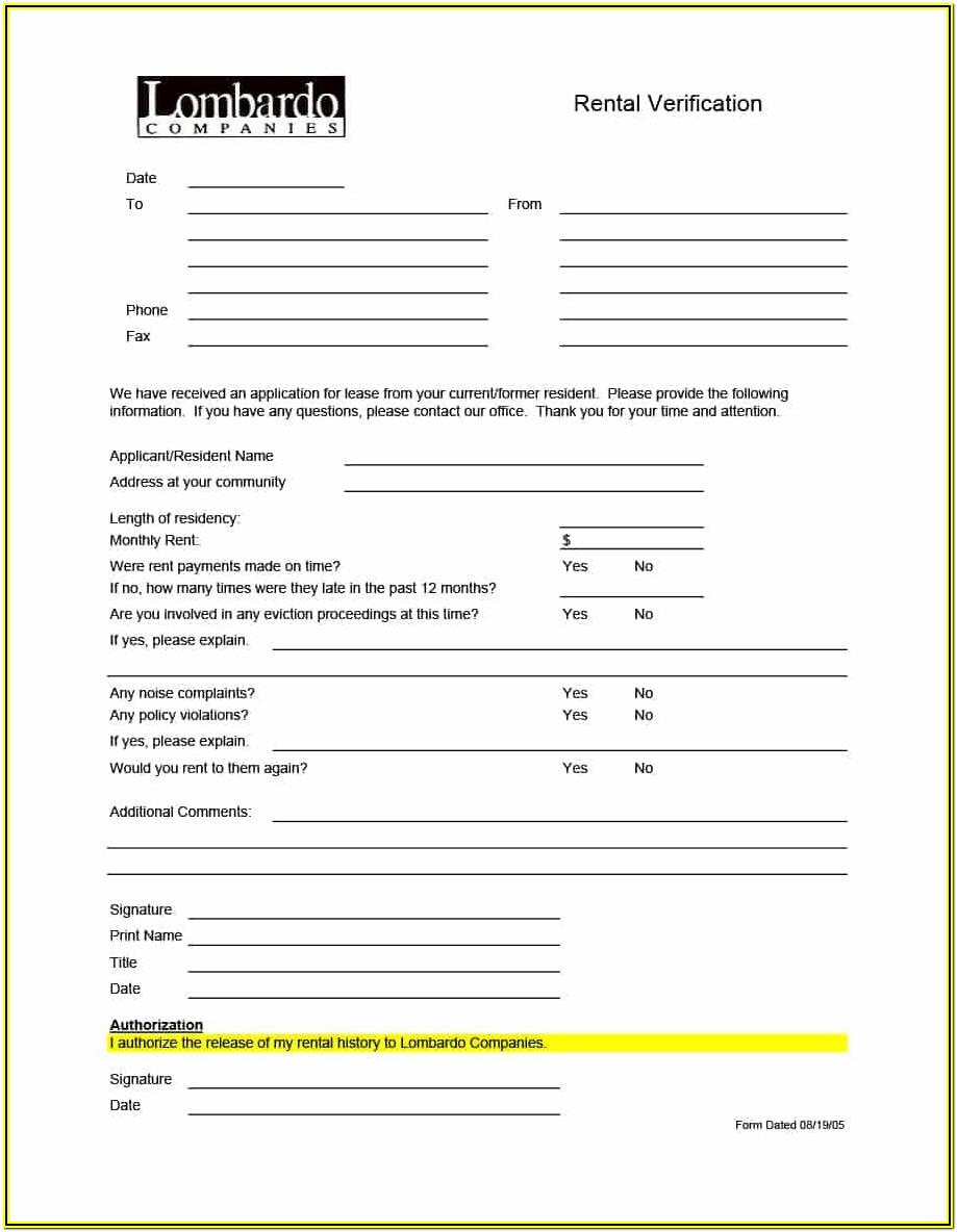 Tenant Background Check Authorization Form