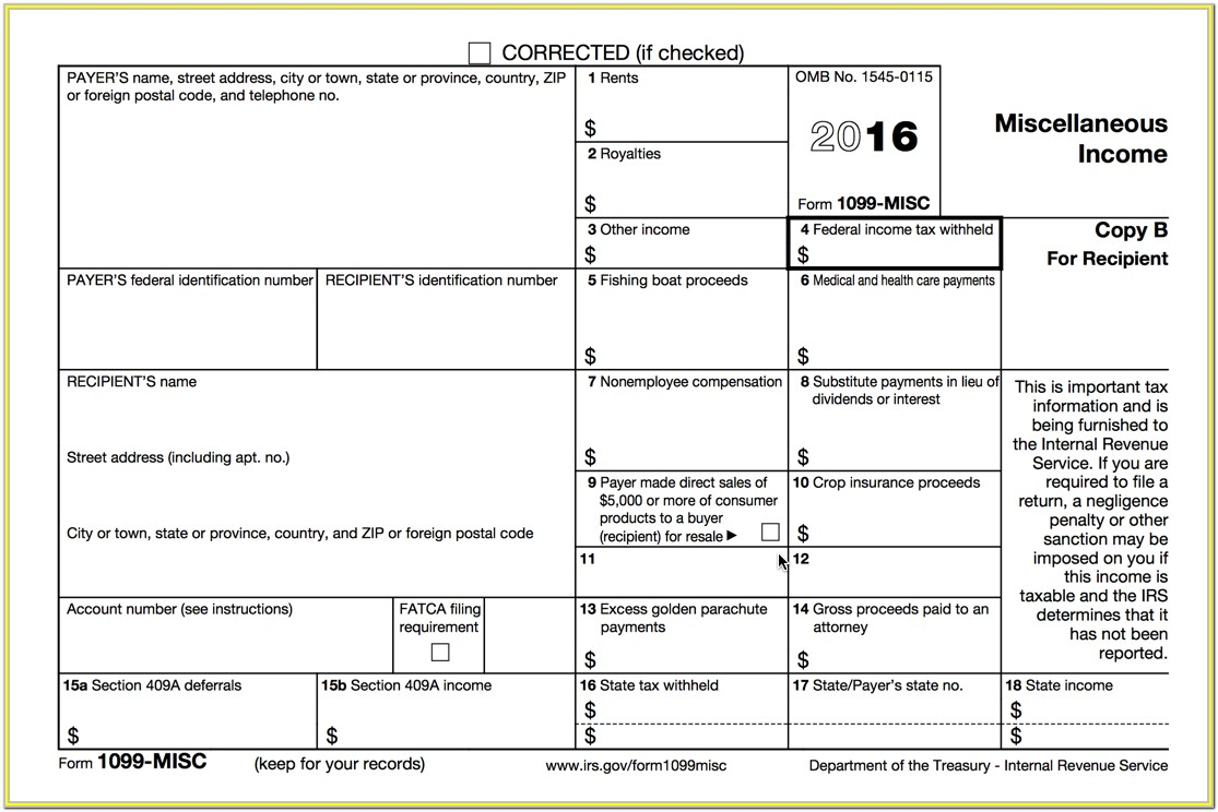 1099 Forms Irs