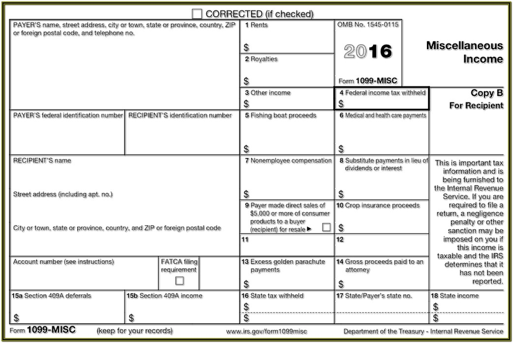 1099 Misc 2014 Form