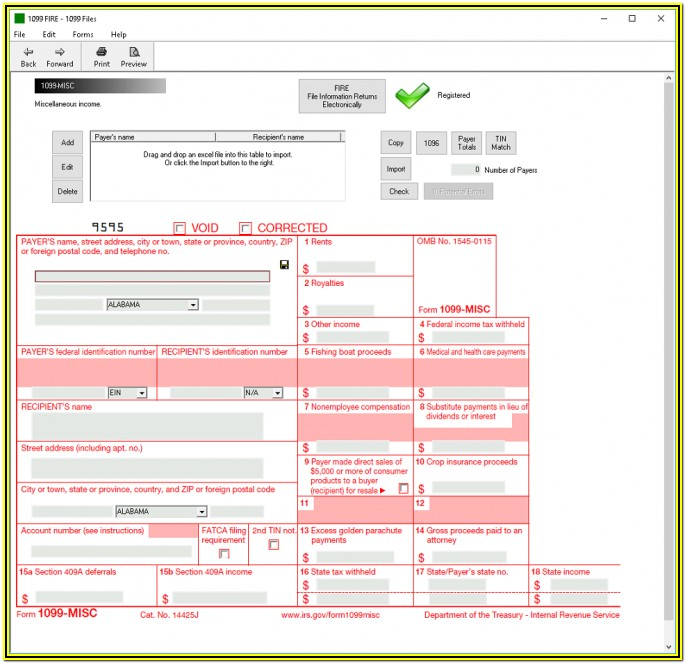 1099 Misc Fillable Form 2019