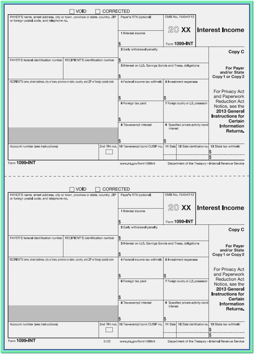 1099 Misc Printable Form 2018