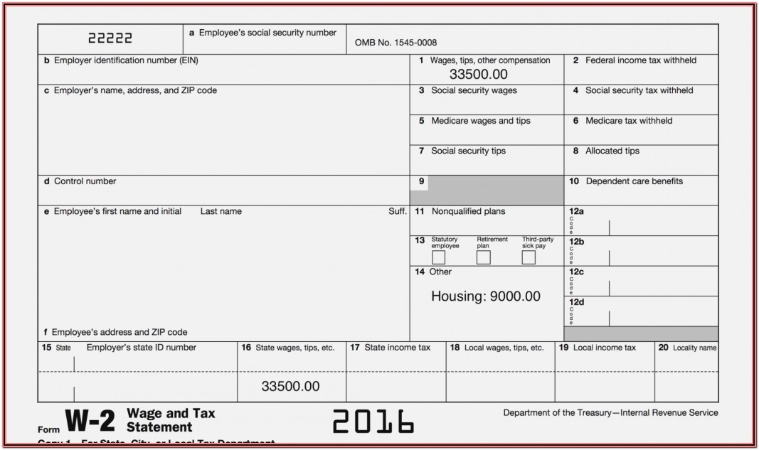 1099 Ssa Form Sample