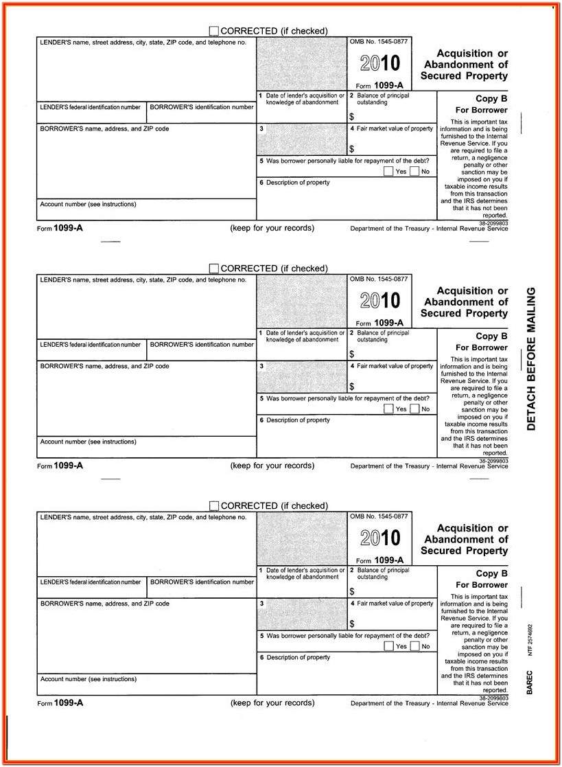2011 Form 1099 Misc