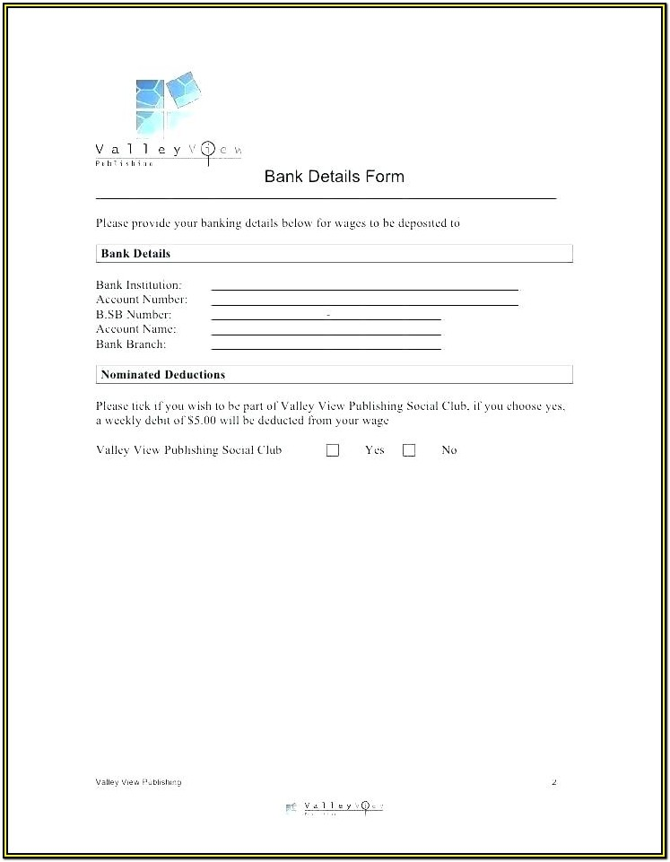 After School Club Registration Form Template
