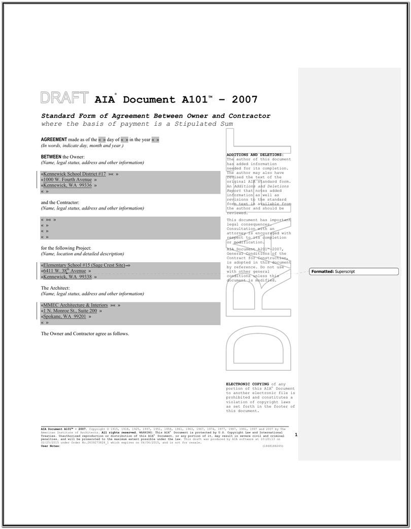 Aia Form A101