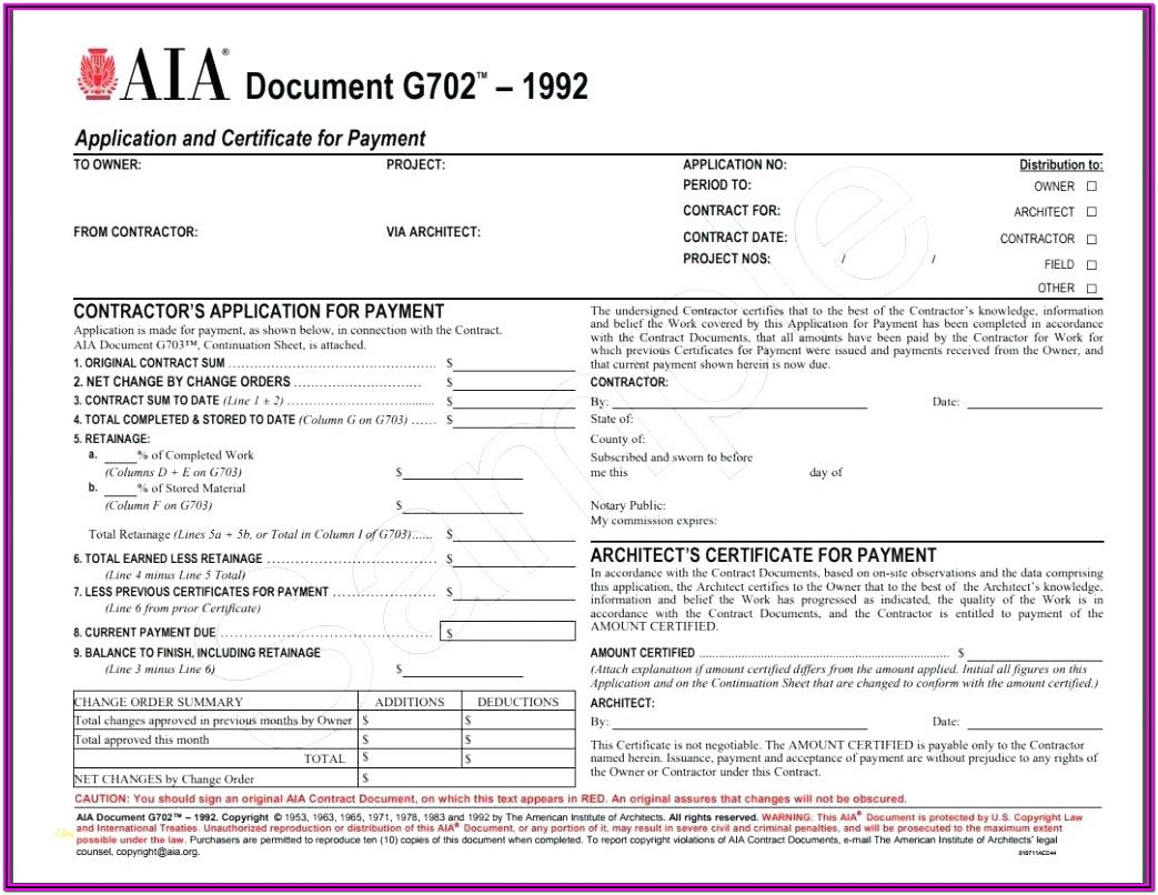 Aia G706 Form Free