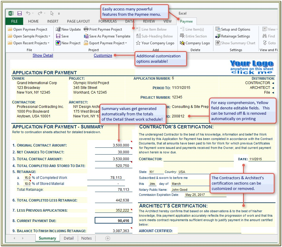 Aia Payment Application Form