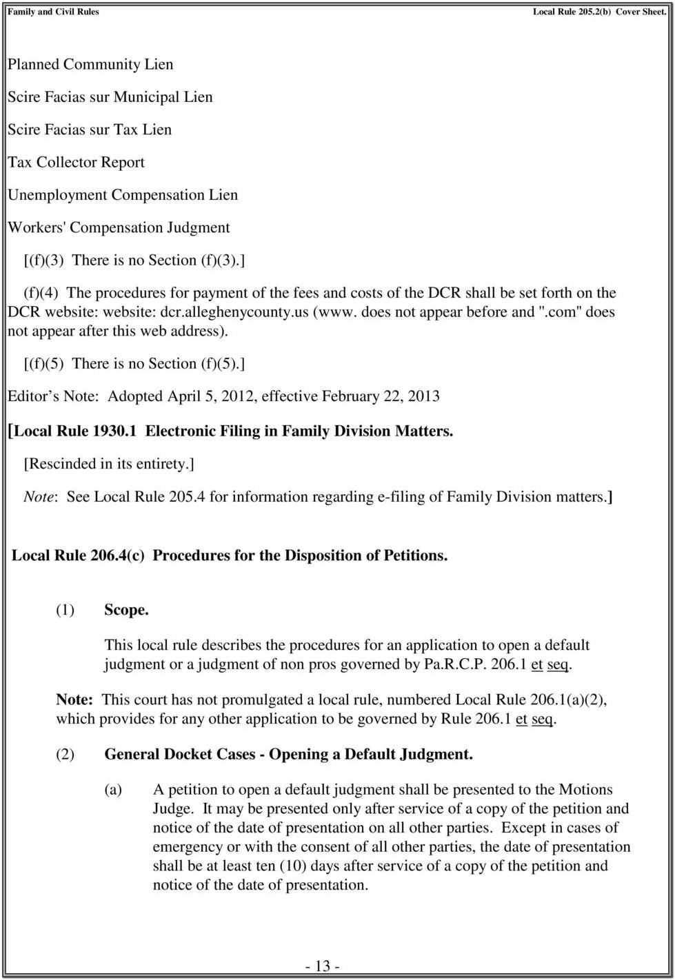 Allegheny County Divorce Forms