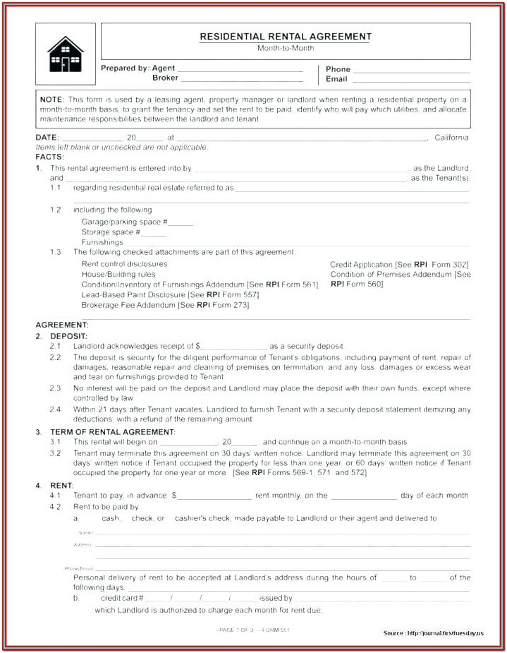 Application Form For Renting A House