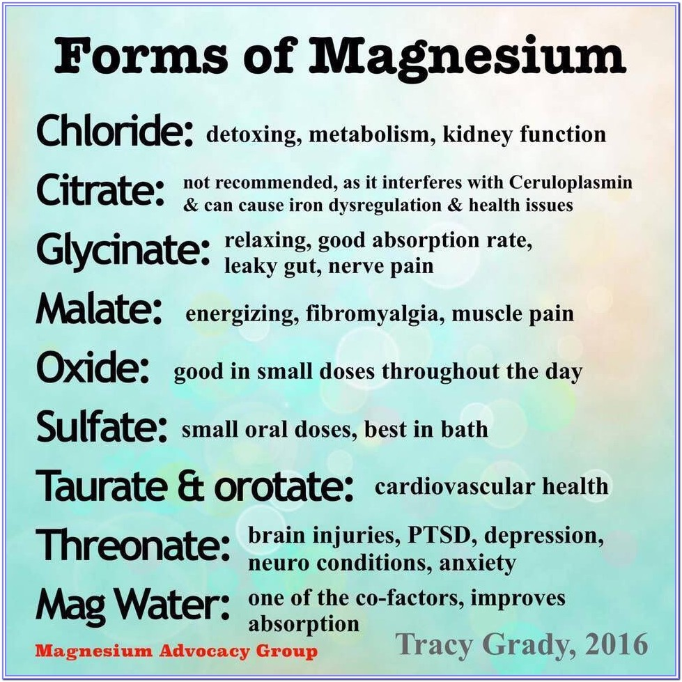 Best Form Of Magnesium For Muscle Relaxation