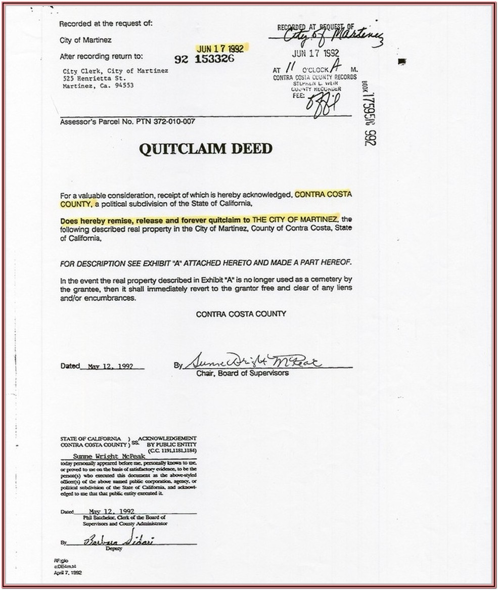 Blank Grant Deed Form California