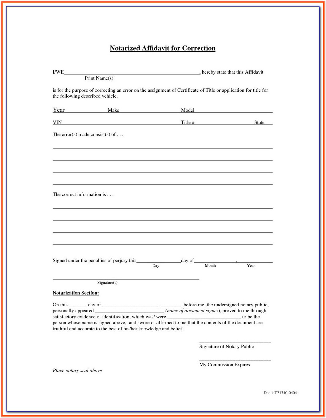 California Notary Forms 2019