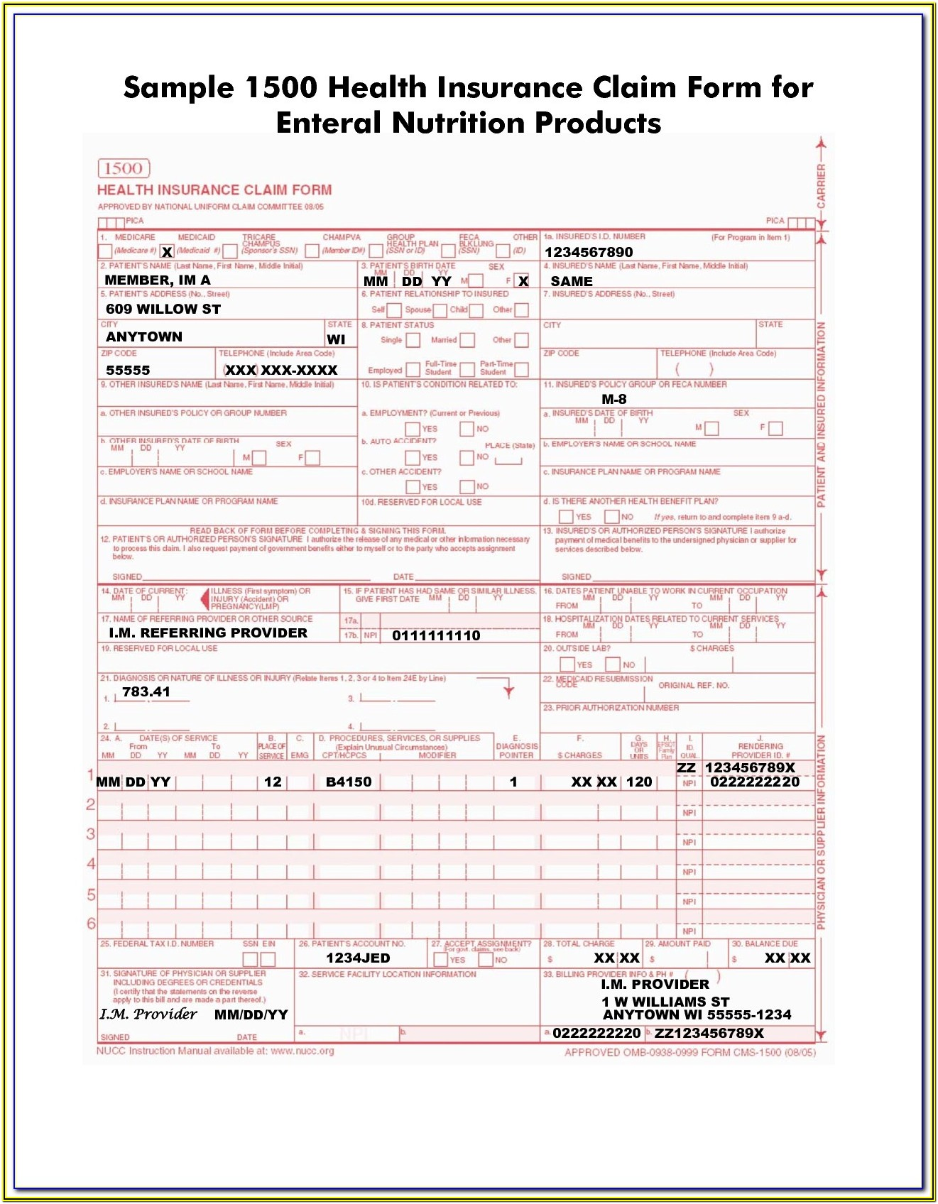 Cms 1500 Form Free Download