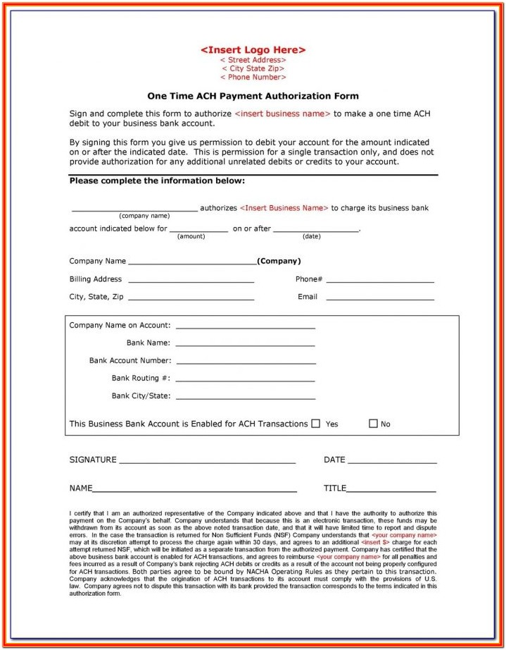 Credit Report Authorization Form Landlord