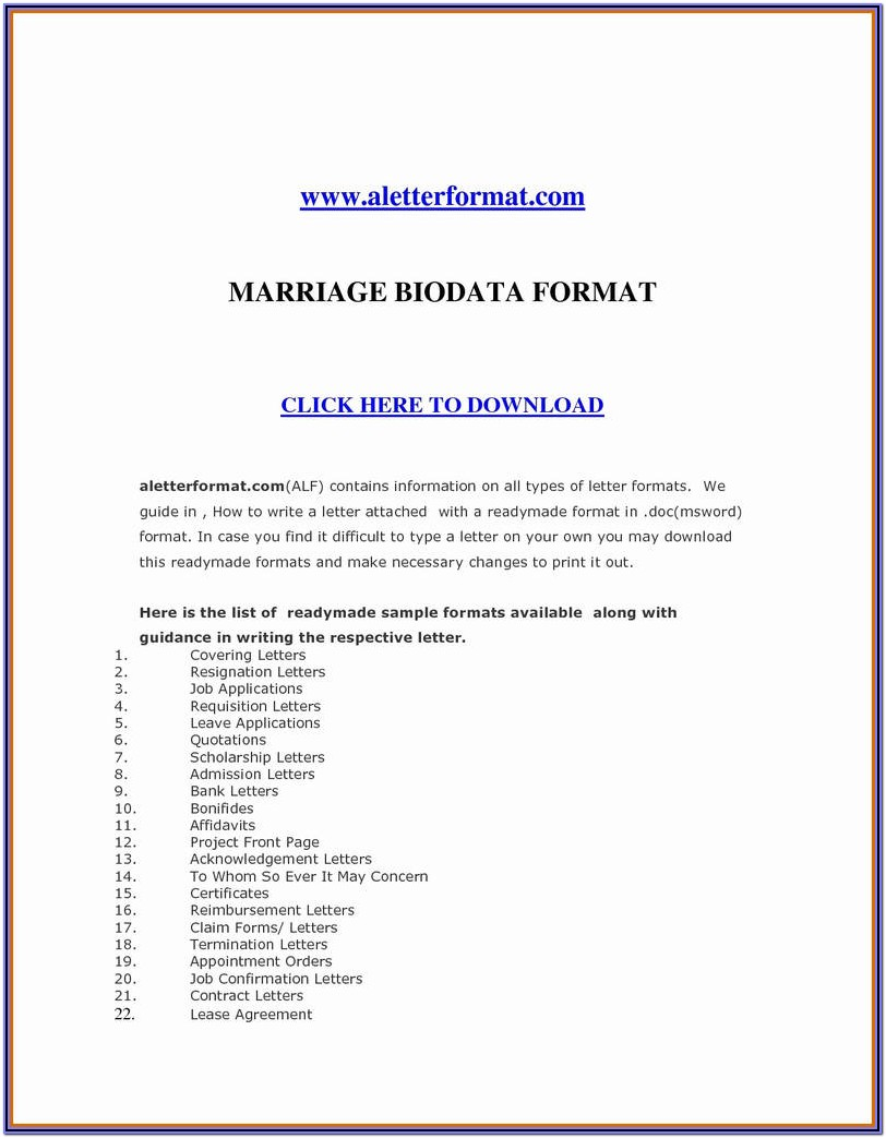 Divorce Application Form Florida