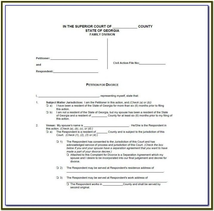 Divorce Forms In Va