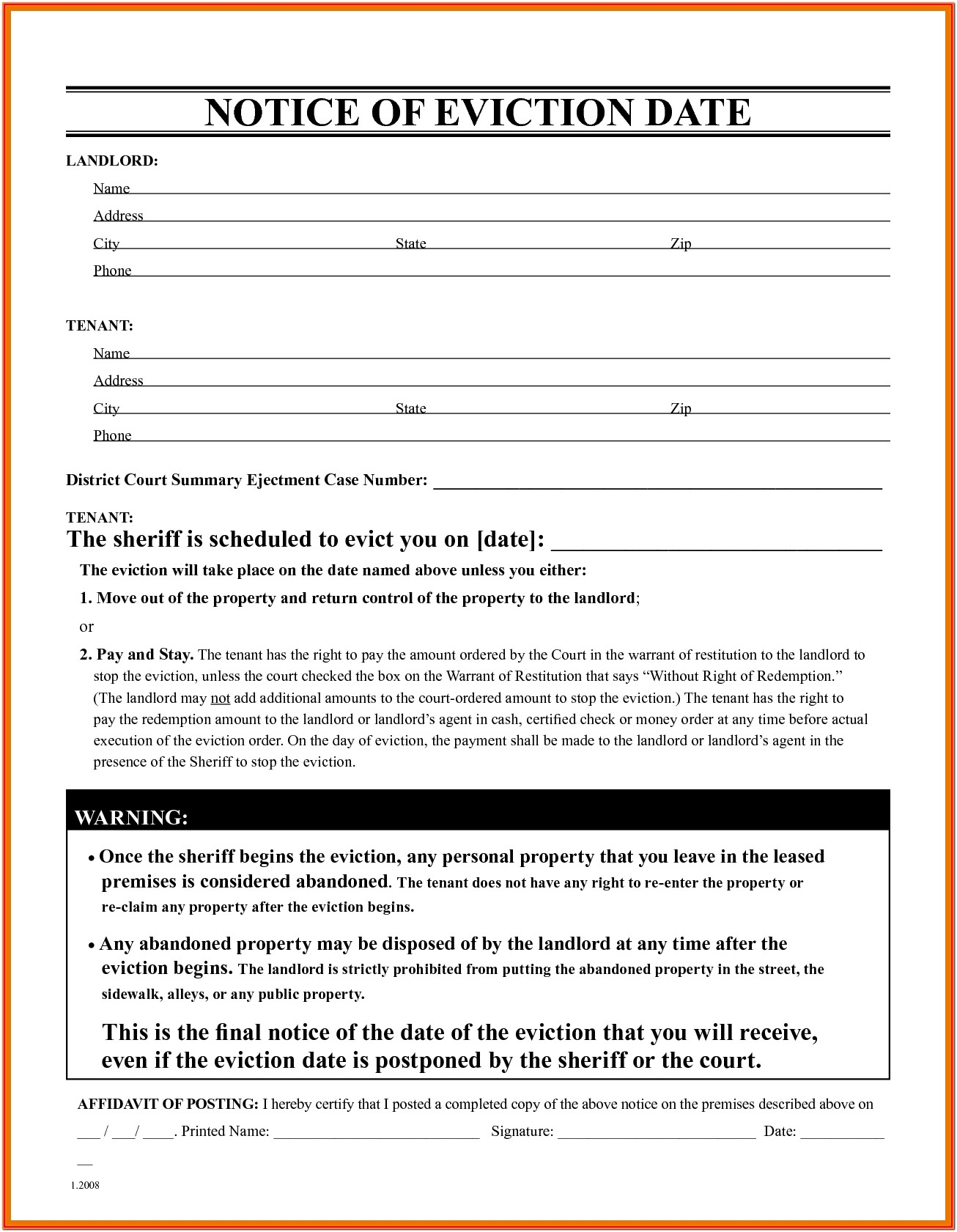 Download Eviction Notice Form