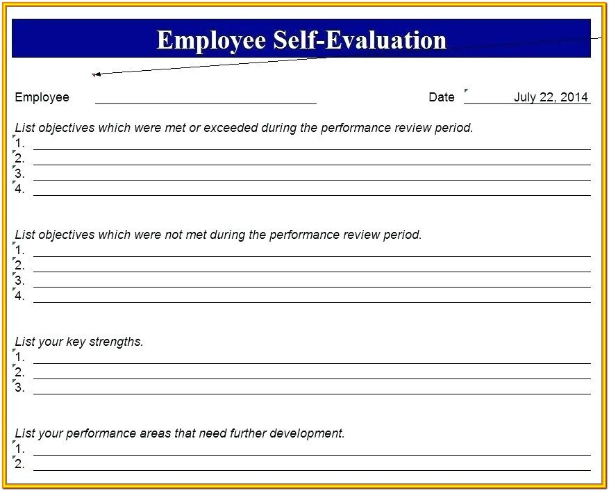 Downloadable Free Employee Evaluation Forms Printable