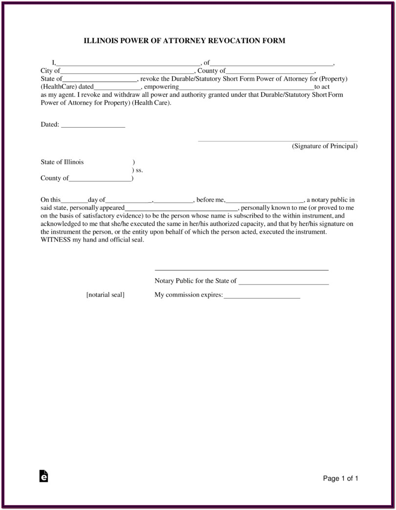 Durable Power Of Attorney For Finances Form