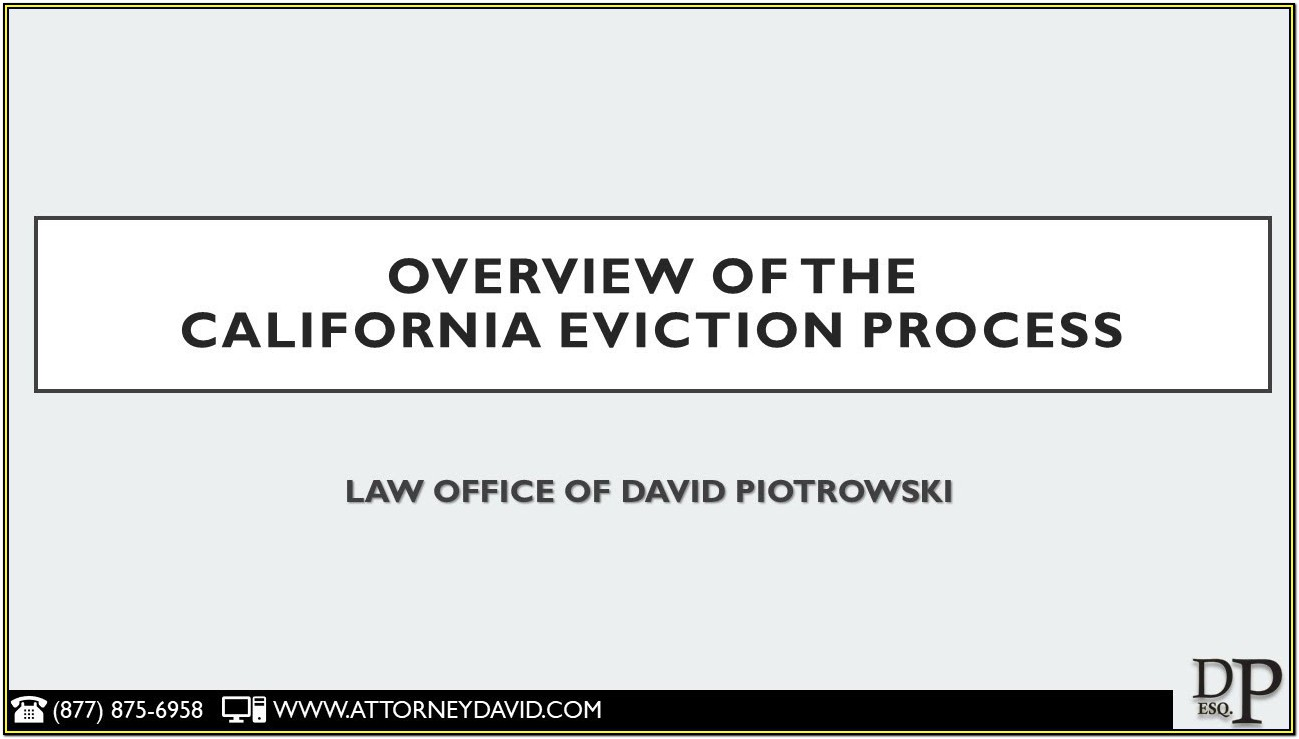 Eviction Forms California Free