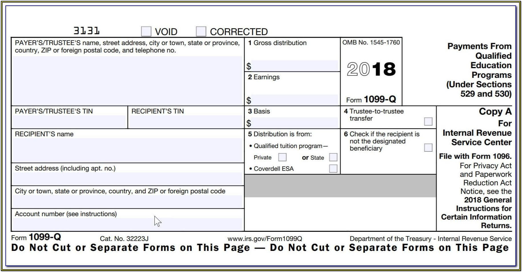 Fillable 1099 Form