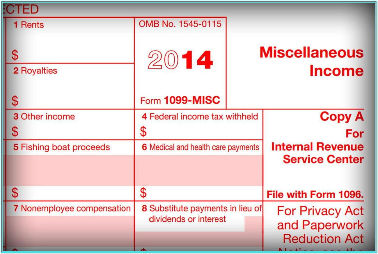 Fillable 1099 Misc Form 2013