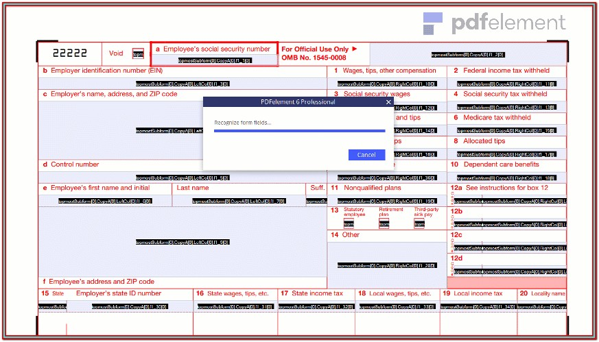 Fillable W 2 Form 2017 Free (50)