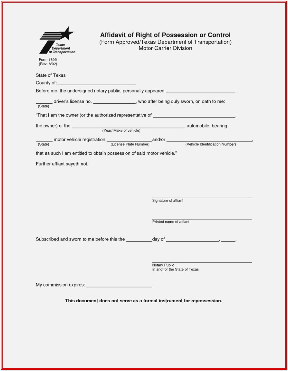 Florida Notary Forms