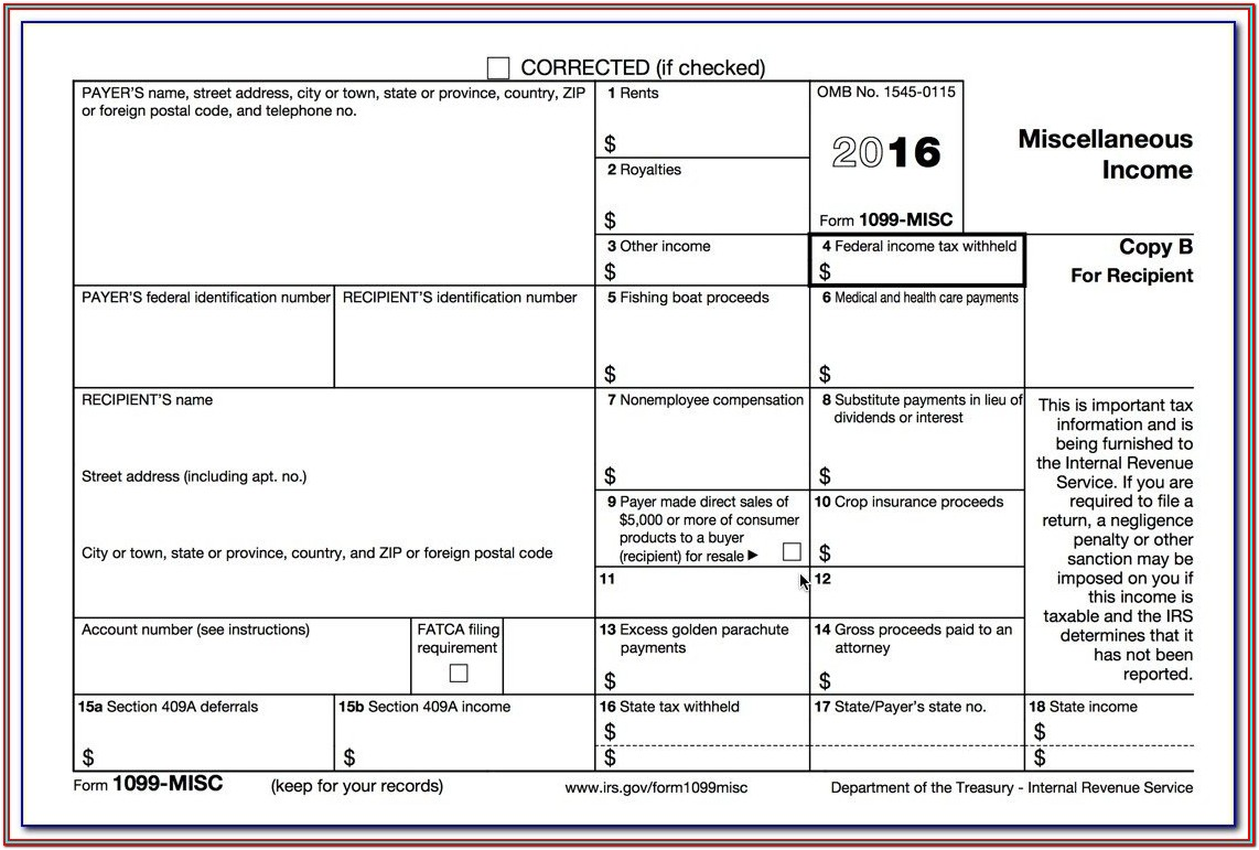 Form 1099 Fillable