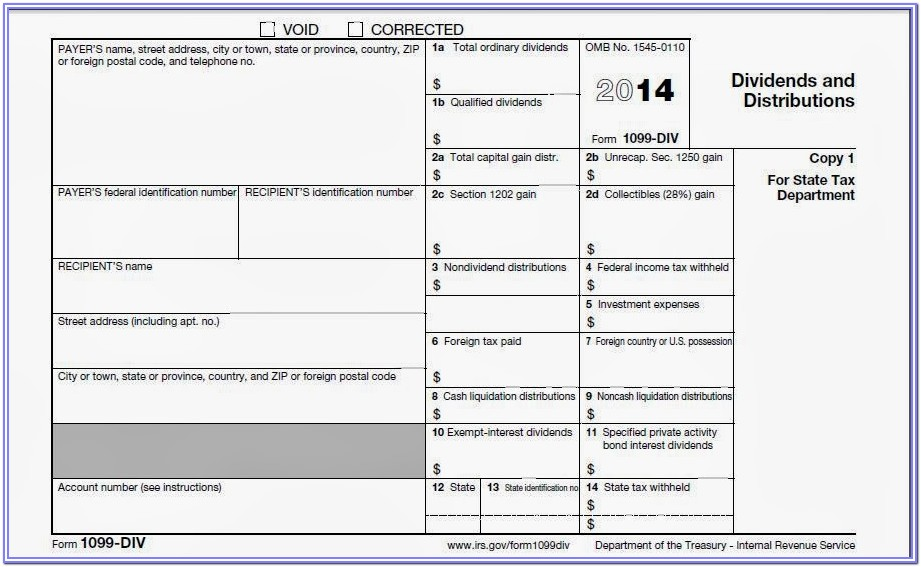 Form 1099 Misc Template