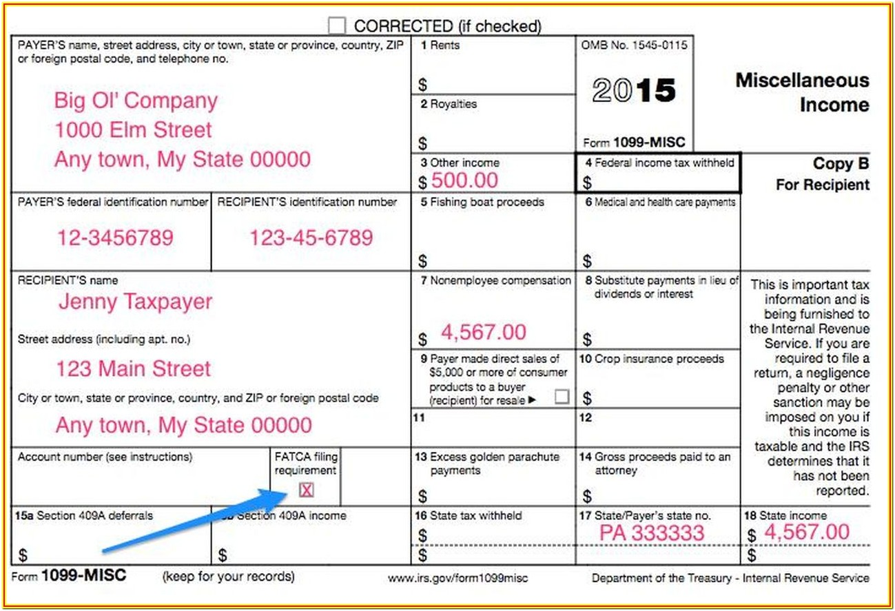 Form 1099 Miscellaneous Instructions