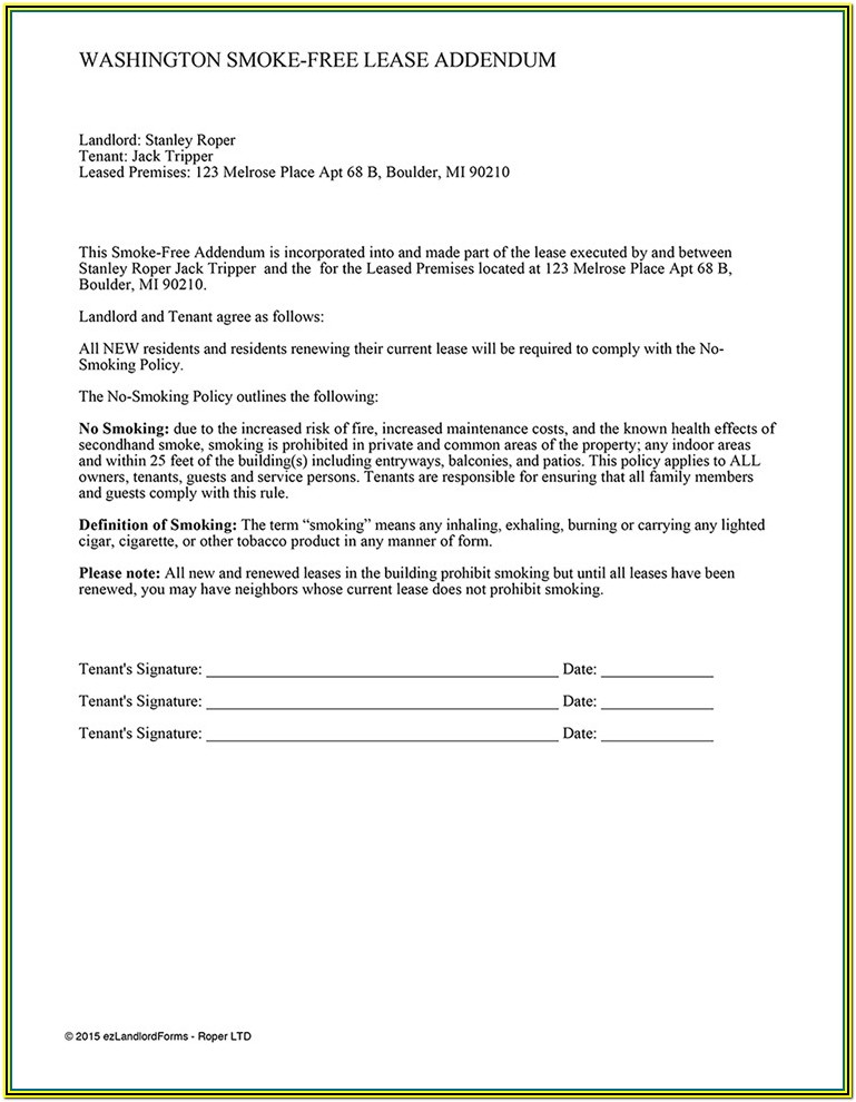 Form 68 Lease Rental Agreement Washington State