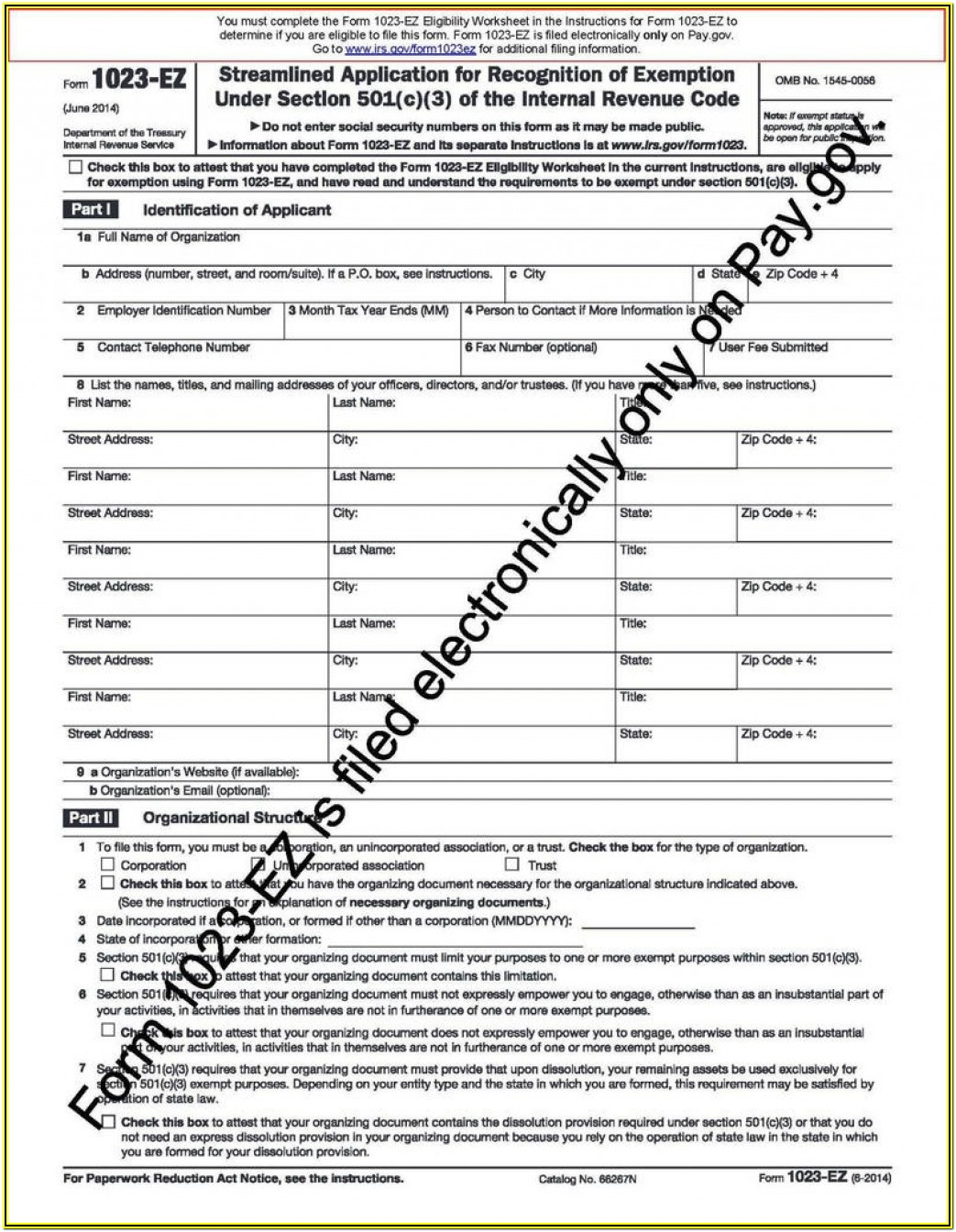 Form 990 Filings Search