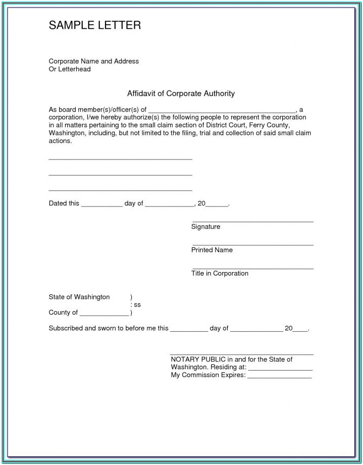 Free General Affidavit Form Download