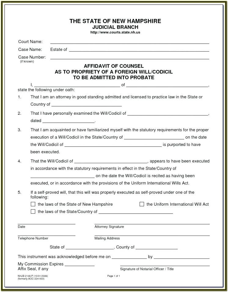 Free Printable Printable Last Will And Testament Forms Ontario