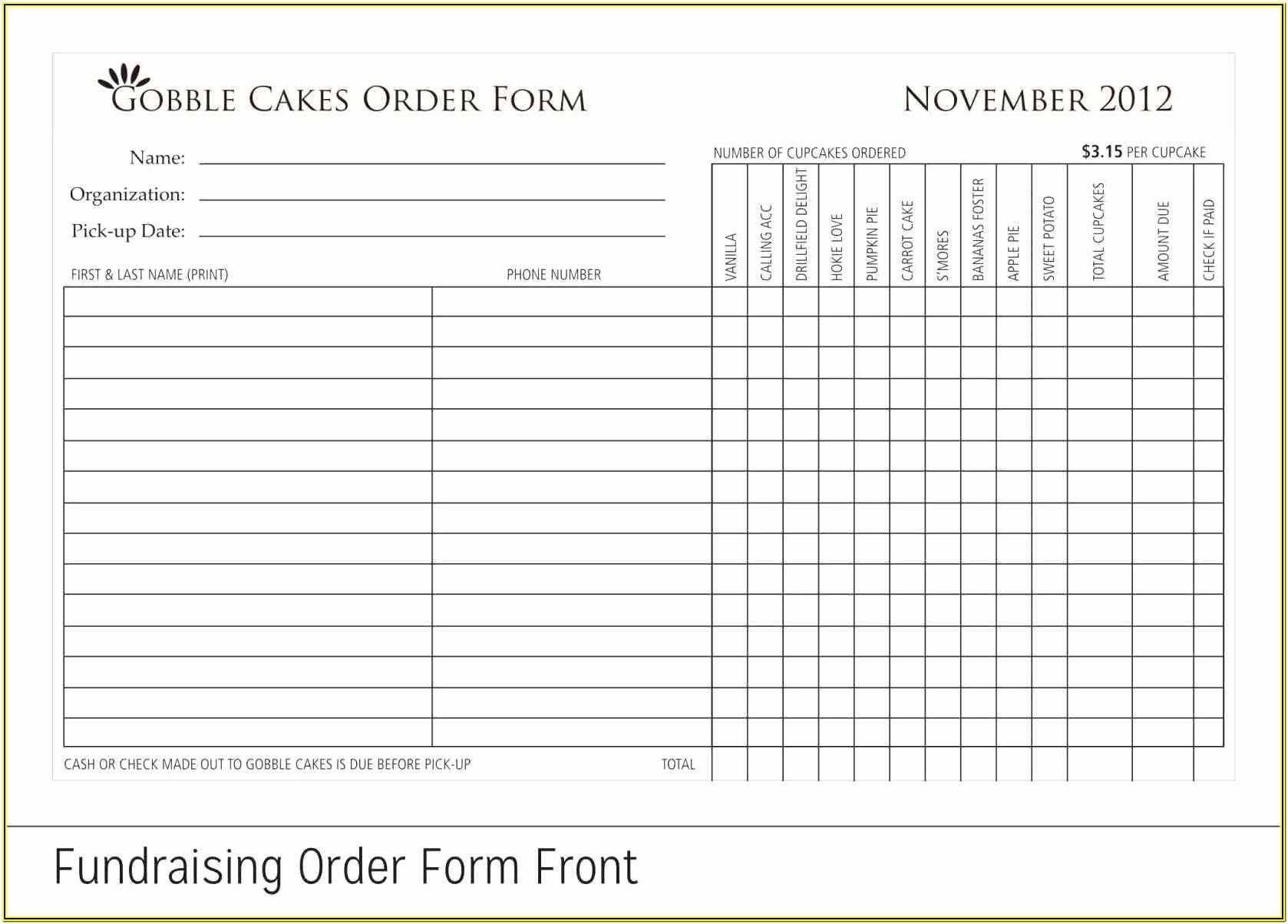 Fundraising Pledge Forms