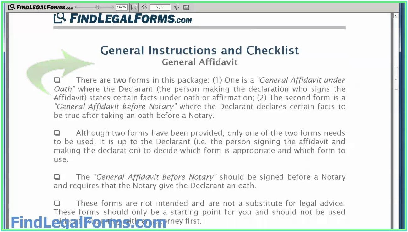 General Affidavit Of Fact Form Texas