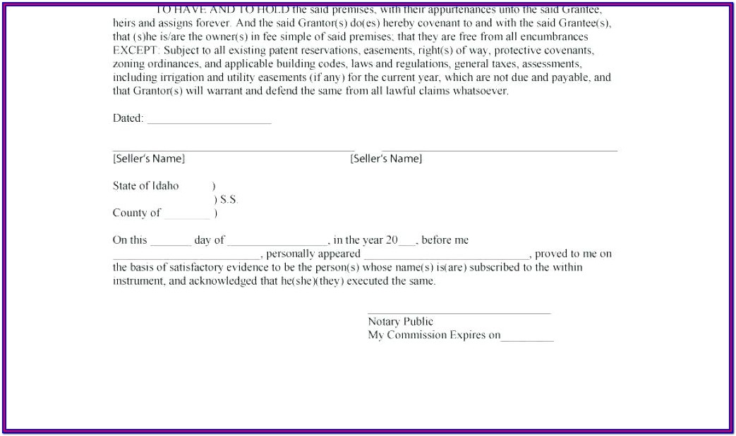 General Warranty Deed Texas Form Free