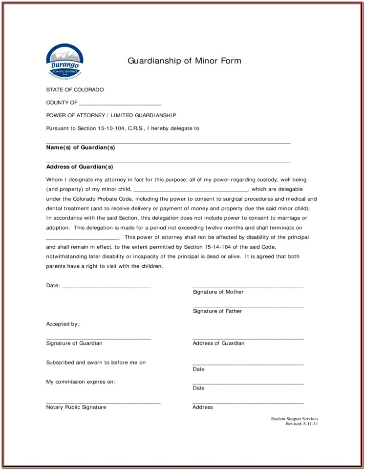 Guardianship Forms Colorado