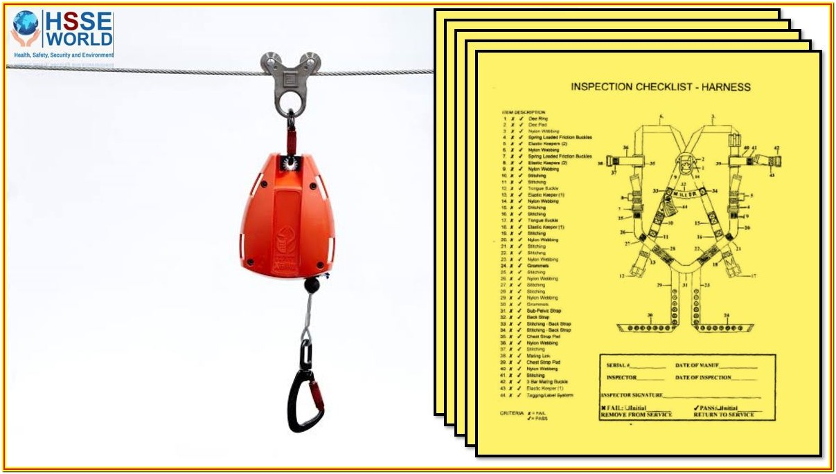 Harness Inspection Form Pdf